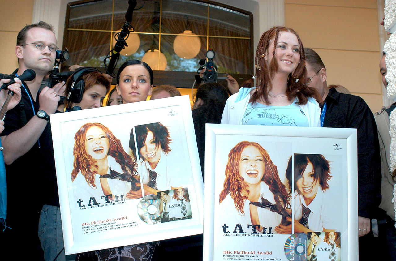 ТАТУ - Tatu Receiving Platinum Award 22.05.2003